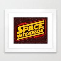 LASER SWORD SPACE WIZARDS Framed Art Print