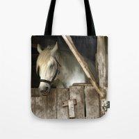 Horse Barn Tote Bag
