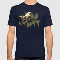 the Mokingbird Mens Fitted Tee Navy SMALL