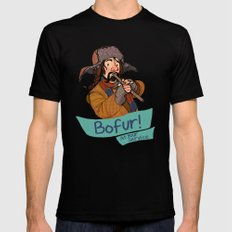 Bofur at Your Service SMALL Black Mens Fitted Tee