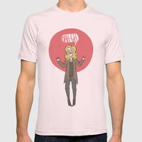 Bah-gel Mens Fitted Tee Light Pink SMALL
