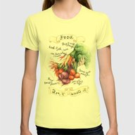 Food Poster Womens Fitted Tee Lemon SMALL