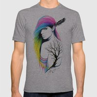 -Stadt Indianer- Mens Fitted Tee Athletic Grey SMALL