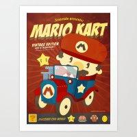 Mario Kart Vintage Art Print