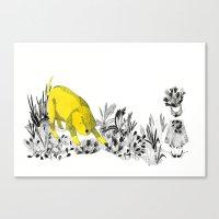 yellow dog Canvas Print