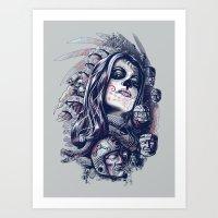 Coyolxauhqui Art Print