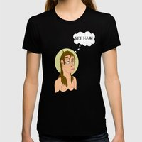 St. Cleatus the Babtist (John's younger, lesser known, brother) Womens Fitted Tee Black SMALL