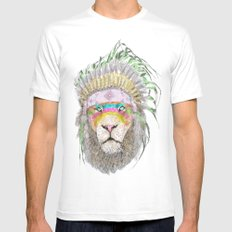 LIONHEART SMALL White Mens Fitted Tee