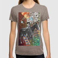 Cowboy and His Guns Womens Fitted Tee Tri-Coffee SMALL