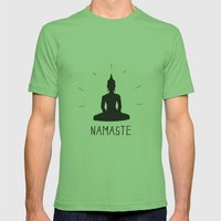 NAMASTE Mens Fitted Tee Grass SMALL
