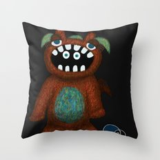 Scared Monster Throw Pillow