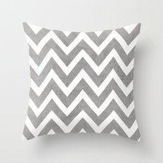 Gray Chevron Throw Pillow