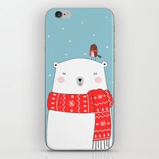POLAR BEAR&LITTLE BIRD CHRISTMAS iPhone & iPod Skin