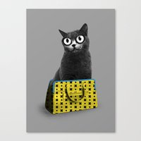 The Cat In The Bag Of Tr… Canvas Print