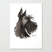 Scottish Terrier profile Canvas Print