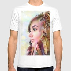 The guradian of the sky White SMALL Mens Fitted Tee