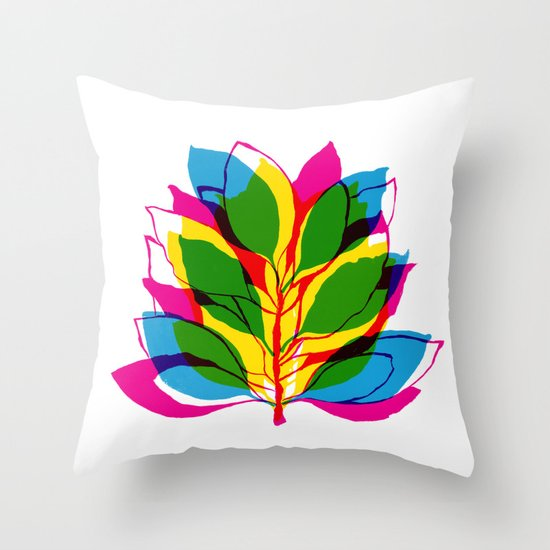 Blossom CMYK Throw Pillow