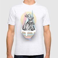 Dreaming Deer Mens Fitted Tee Ash Grey SMALL