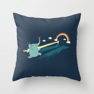 Throw Pillow featuring Pole Vault by Ilovedoodle