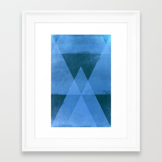 Distressed Triangles Framed Art Print