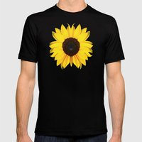 Colored Summer ~ Sunflow… Mens Fitted Tee Black SMALL