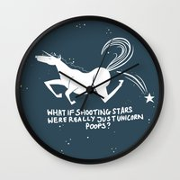 What If Shooting Stars..… Wall Clock