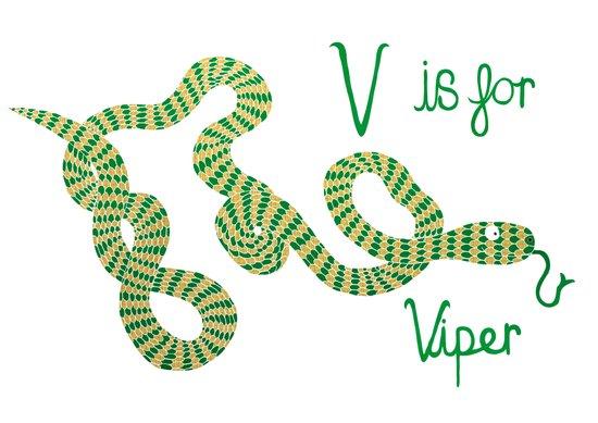 V is for Viper  Art Print