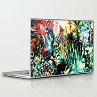 zebra Laptop & iPad Skins featuring ZEBRA by RIZA PEKER