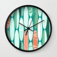 Simply Surf Boards Wall Clock