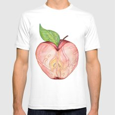 An apple a day SMALL White Mens Fitted Tee