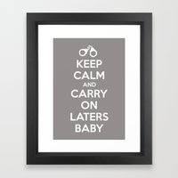 Keep Calm And Carry On L… Framed Art Print