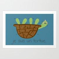 Logans Tortoise-Turtle Art Print