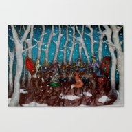 The Winter Feast Canvas Print