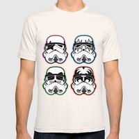 Kiss Troopers Mens Fitted Tee Natural SMALL