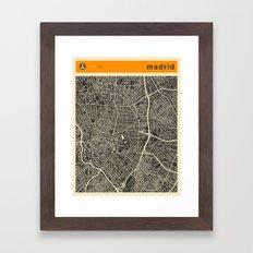 Madrid Map Framed Art Print