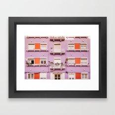 The purple building Framed Art Print