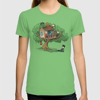 Super Exclusive Club Womens Fitted Tee Grass SMALL