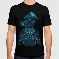 Indian woman Mens Fitted Tee Black SMALL