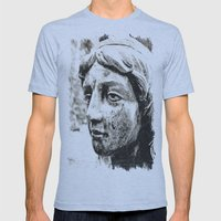 Face of solitude Mens Fitted Tee Athletic Blue SMALL