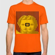 Oh Mens Fitted Tee Orange SMALL