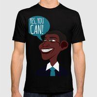 OBAMA Mens Fitted Tee Black SMALL