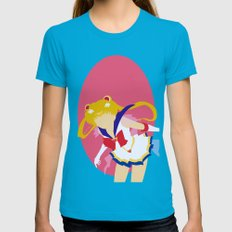 Sailor Moon Womens Fitted Tee Teal SMALL