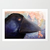 The Raven Who Steals You… Art Print