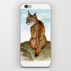 Iberian Lynx Watercolor iPhone & iPod Skin