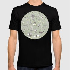 Witchcraft Pattern Mens Fitted Tee Black SMALL