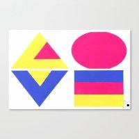 CMYK LOVE Canvas Print