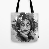 Abstract Portrait Blk/Wht Tote Bag