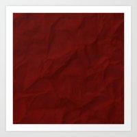 Red paper Art Print
