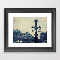 Paris in August Framed Art Print