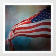 Art Print featuring American Flag by Jai Johnson